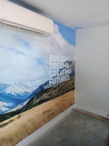 printing on wall