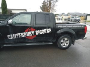 cut lettering on vehicle